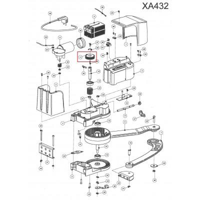 XA432 Roue menée