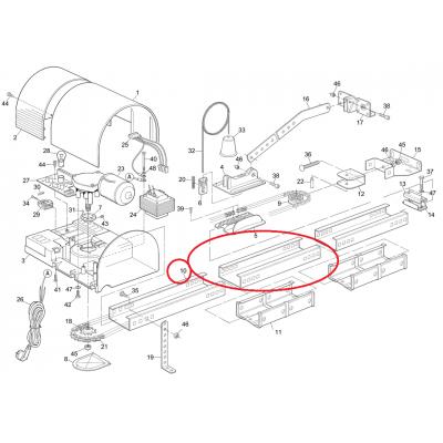 Rallonge de Rail TS432
