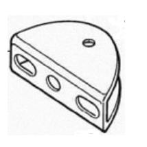 MOOVO platine fixation portail pour motorisation XA432 et XW532